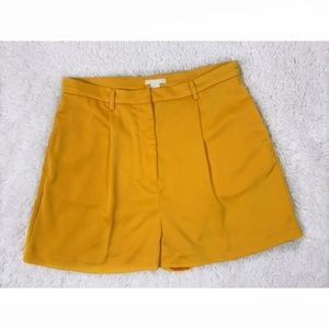 H&M - High Waist Bright Orange Shorts Size 12